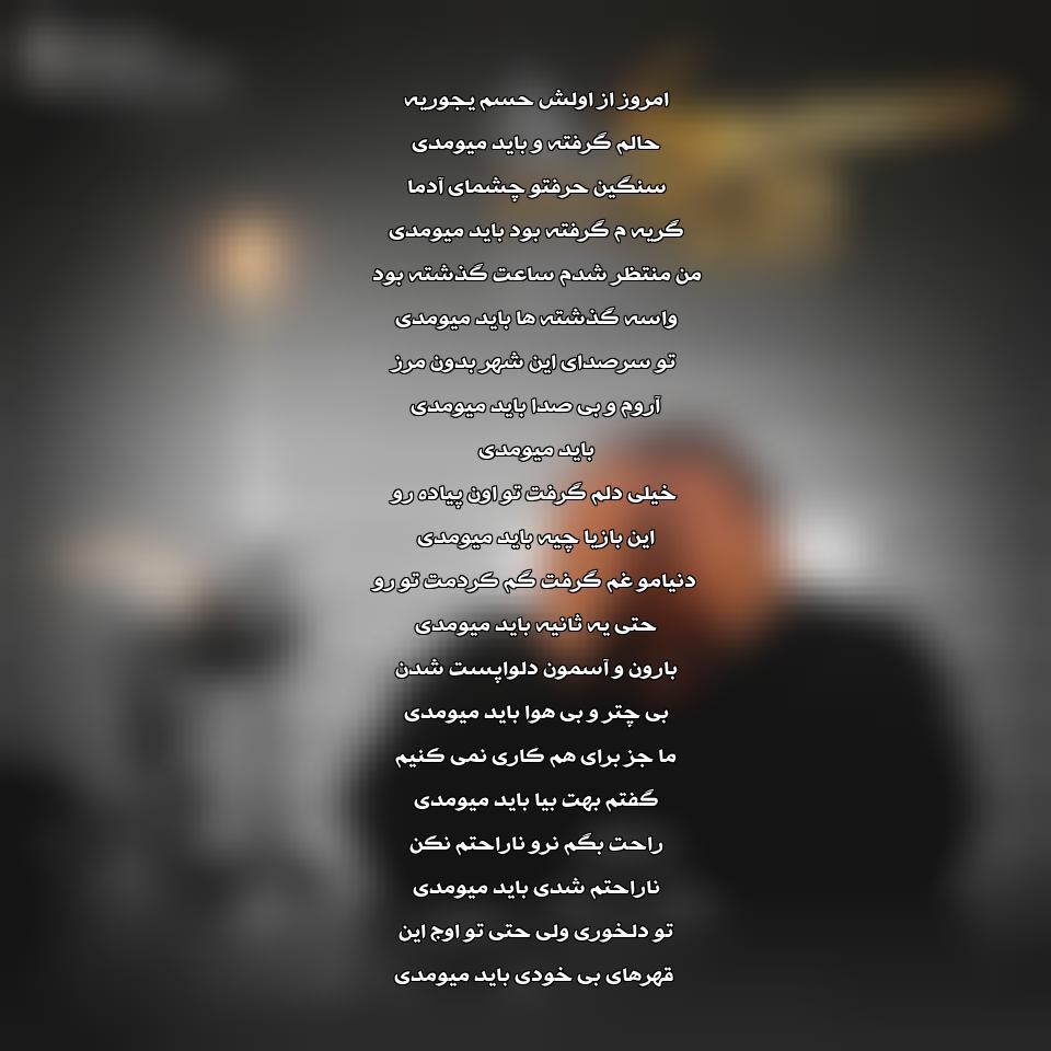 آهنگ جدید و فوق العاده زیبای رضا صادقی بنام باید میومدی