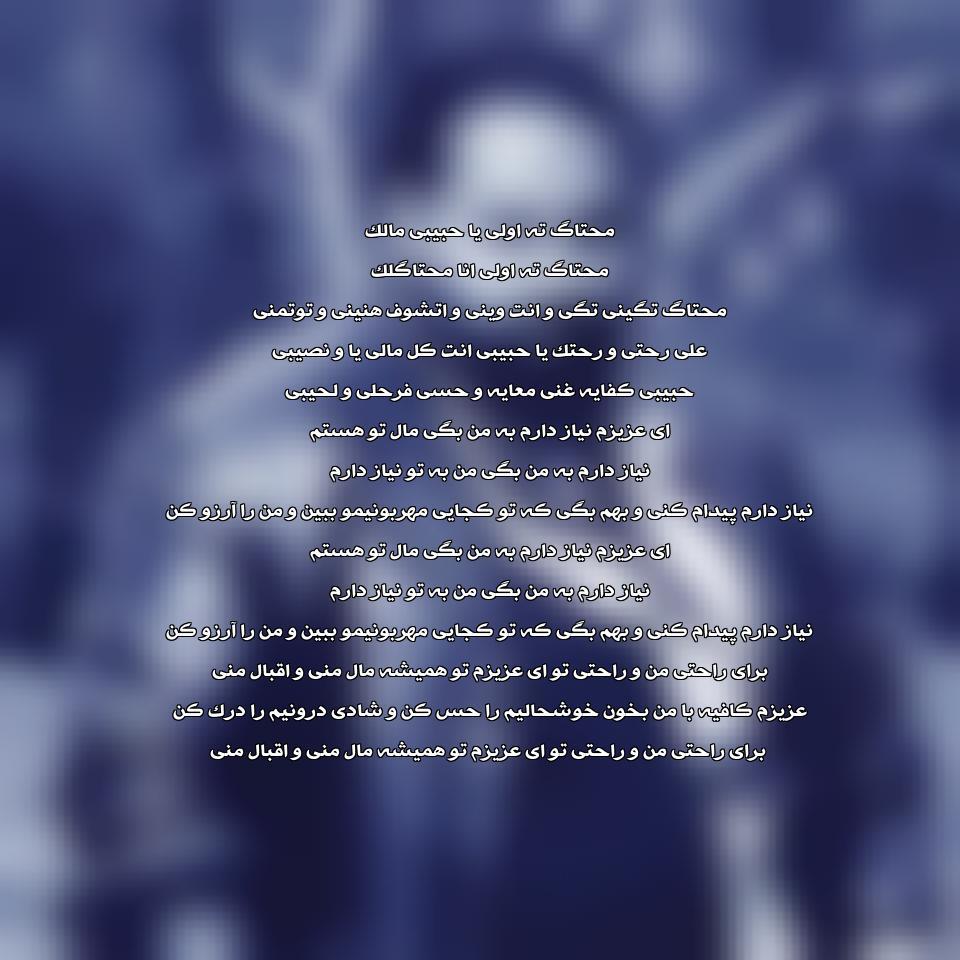 آهنگ جدید رضا صادقی به نام یا حبیبی