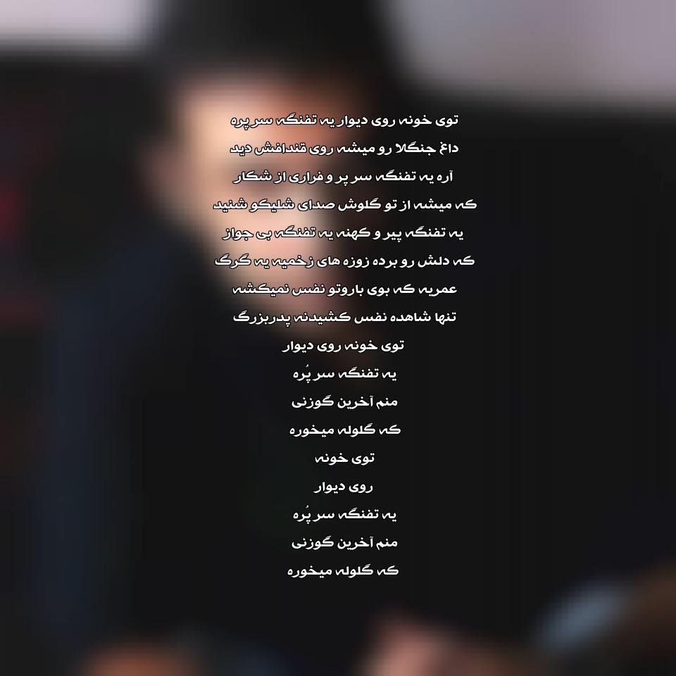 آهنگ جدید محسن چاوشی به نام تفنگ سر پر