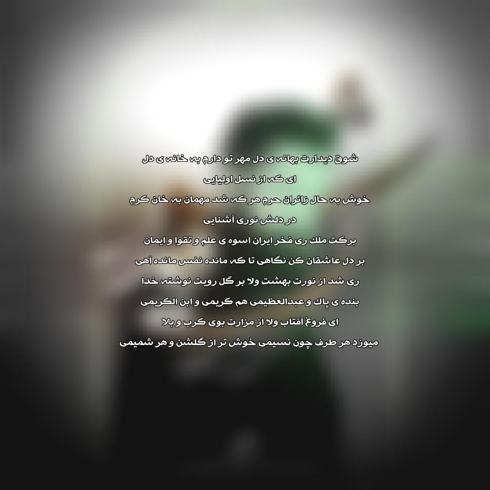 آهنگ جدید علی زند وکیلی به نام شوق دیدار